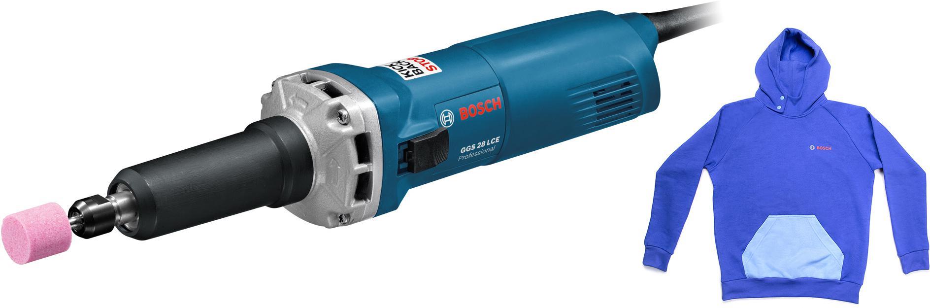 Набор Bosch Машинка шлифовальная прямая ggs 28 lce (0.601.221.100) +толстовка blue 1619m00u9s цена