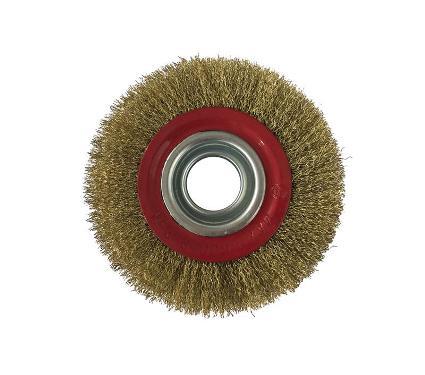 Кордщетка РемоКолор плоская 150мм для шлиф.машины гофр-я латунир-я сталь (45-2-615)