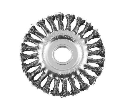 Кордщетка РемоКолор плоская 200мм для УШМ/шлиф.машины витая сталь (45-2-720)