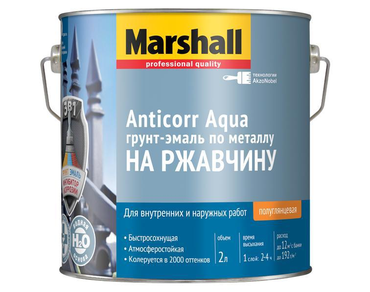 Грунт-эмаль Marshall Anticorr aqua bw 2 л