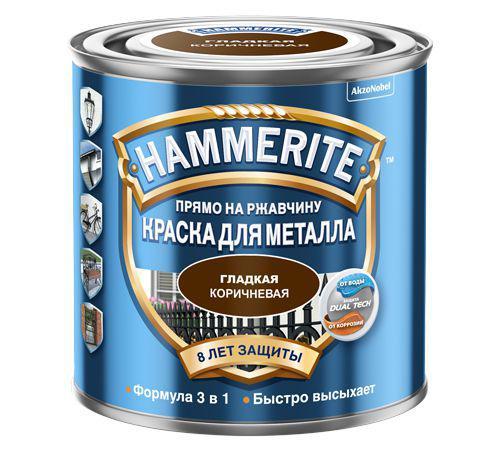 Краска Hammerite коричневая 2,2 л