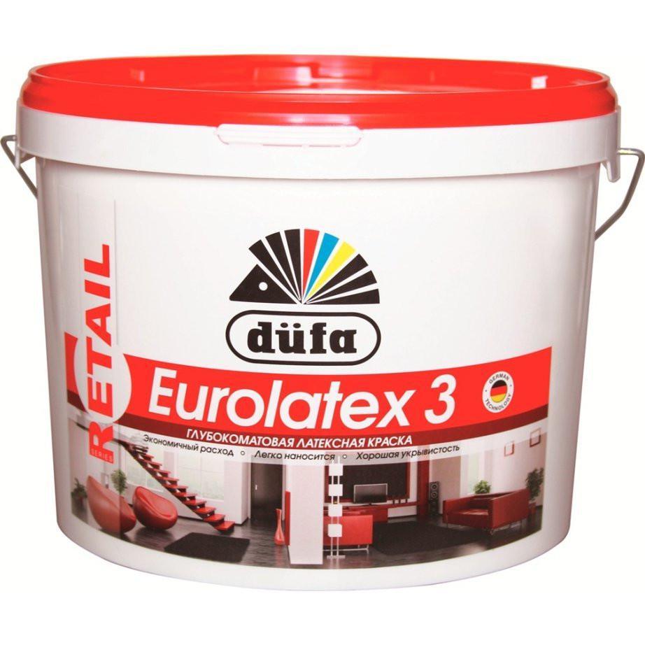 Краска Dufa Retail eurolatex 3 белая 10 л