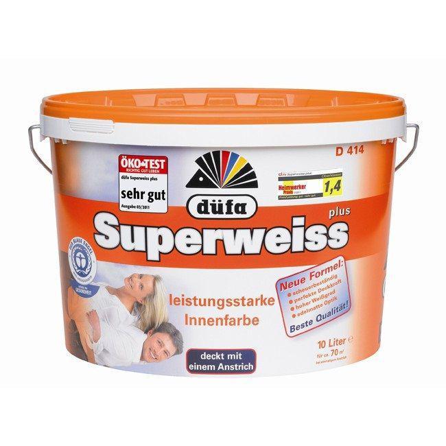 Краска Dufa Superweiss d4 белая 2,5 л