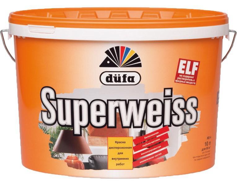 Краска Dufa Superweiss rd4 белая 10 л стоимость