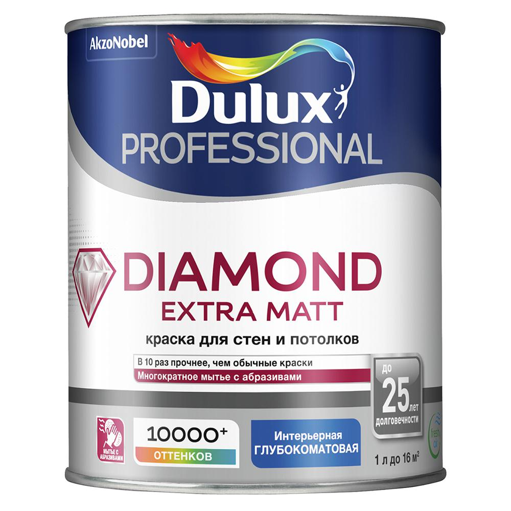 Краска Dulux Diamond extra matt bw 1 л цена в Москве и Питере