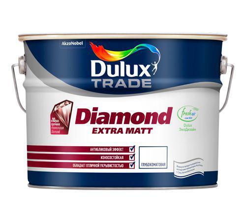 Краска Dulux Diamond extra matt bw 5 л