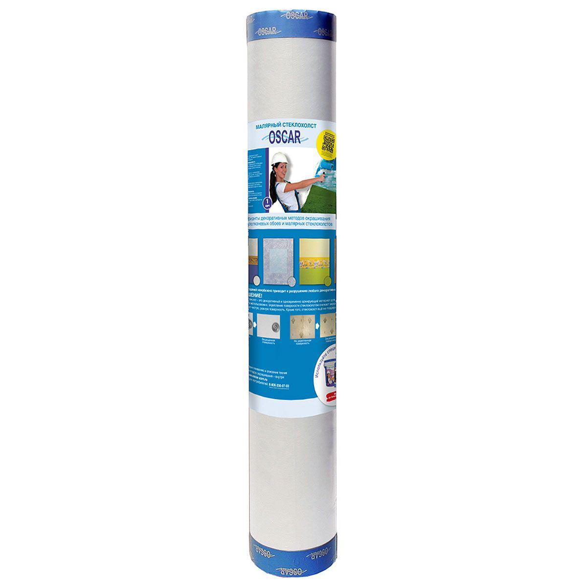 Стеклохолст малярный Oscar Light 1х50 м. 25 г./кв.м. стеклохолст oscar паутинка 25г м2 50х1м белый арт os 25