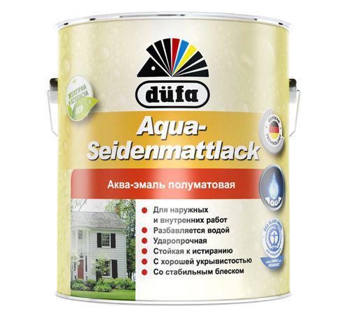 Эмаль Dufa Aqua-seidenmattlack белая 2,5 л