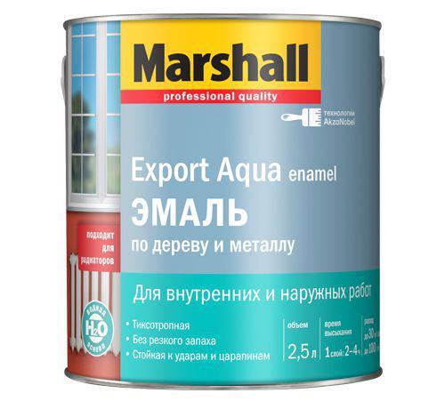 Эмаль Marshall Export aqua белая 2,5 л