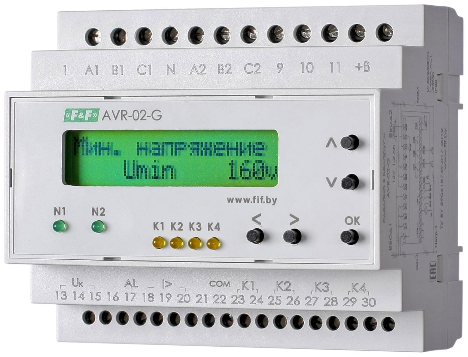 Устройство управления резервным питанием ЕВРОАВТОМАТИКА f&f Avr-02-g as34 g as34 f