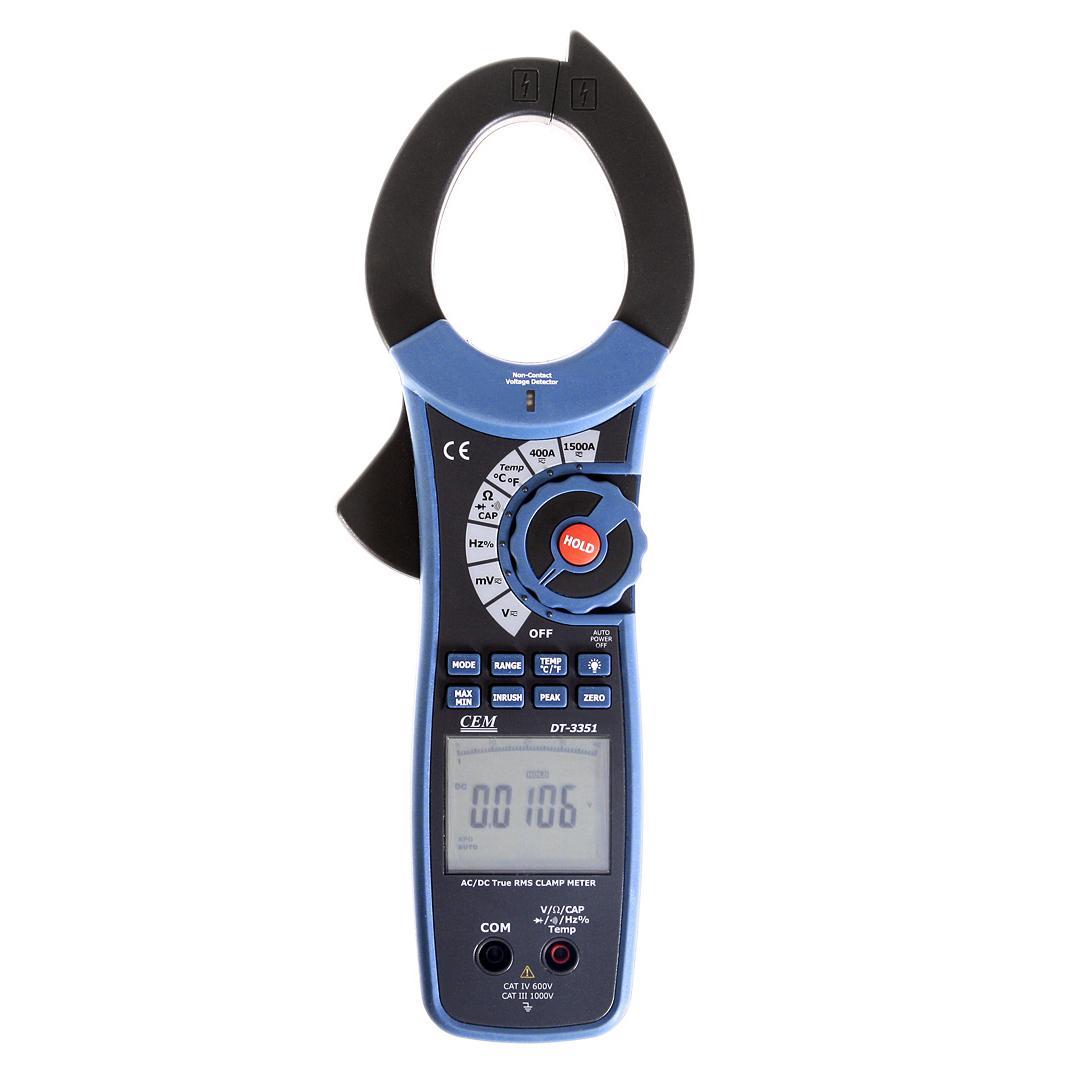 Клещи токоизмерительные Cem Dt-3351 токоизмерительные профессиональные токовые клещи для измерения постоянного и переменного тока сем dt 3351 480410