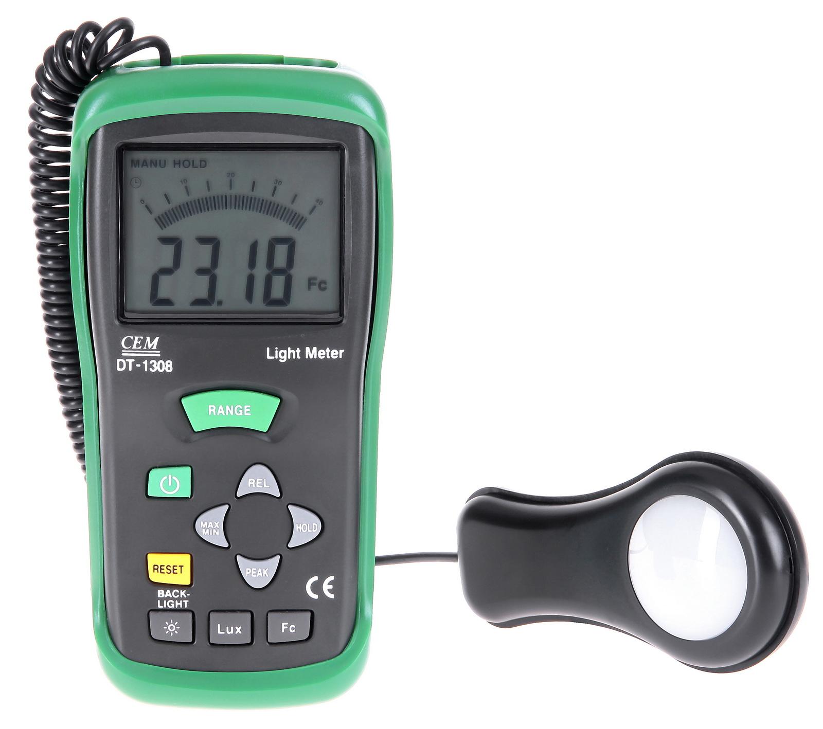 Люксметр Cem Dt-1308 измеритель освещения индикатор cem dt 2g