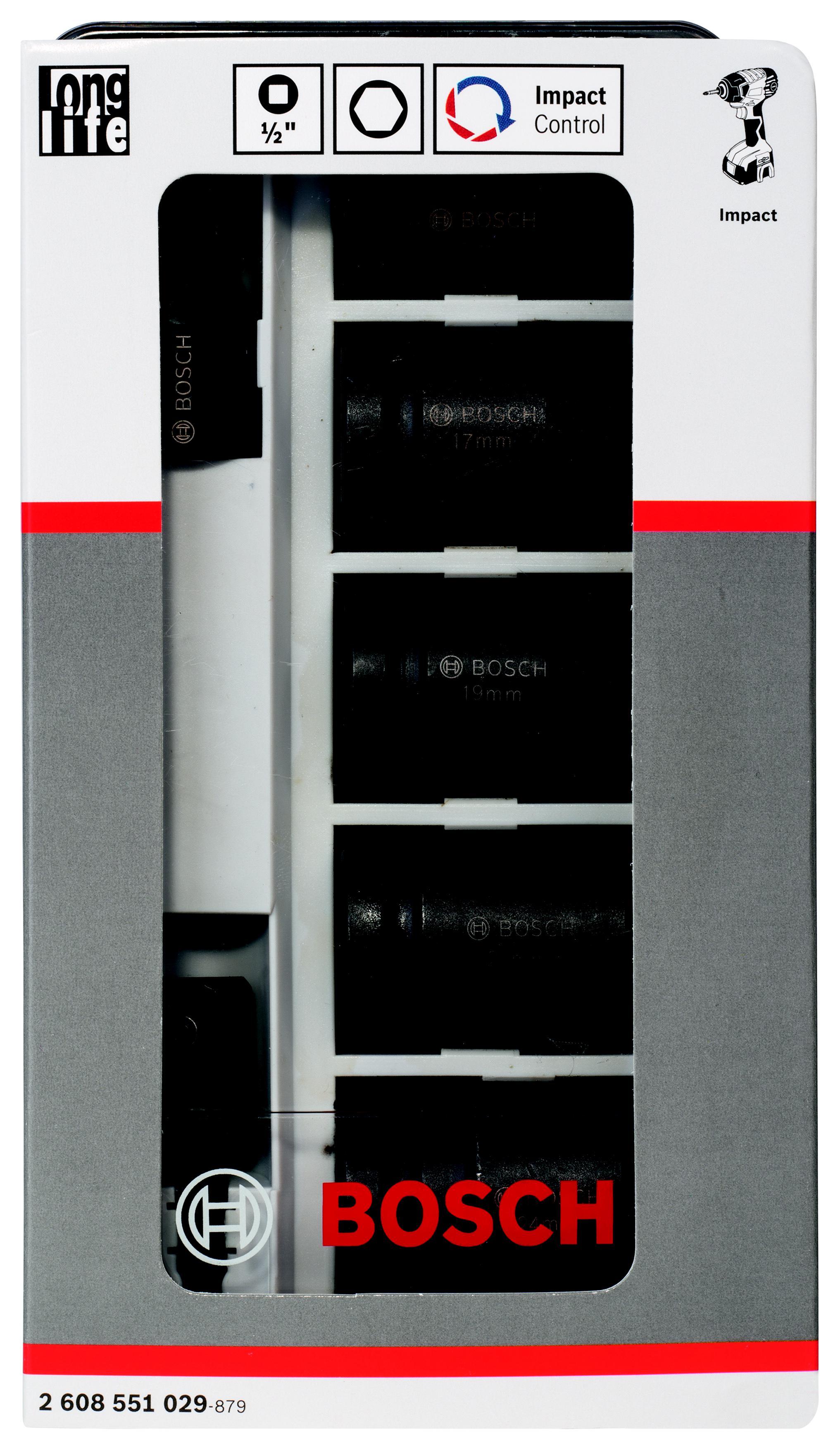 Набор головок Bosch 7 пр.: головки 1/2'' + переходники (2.608.551.029)