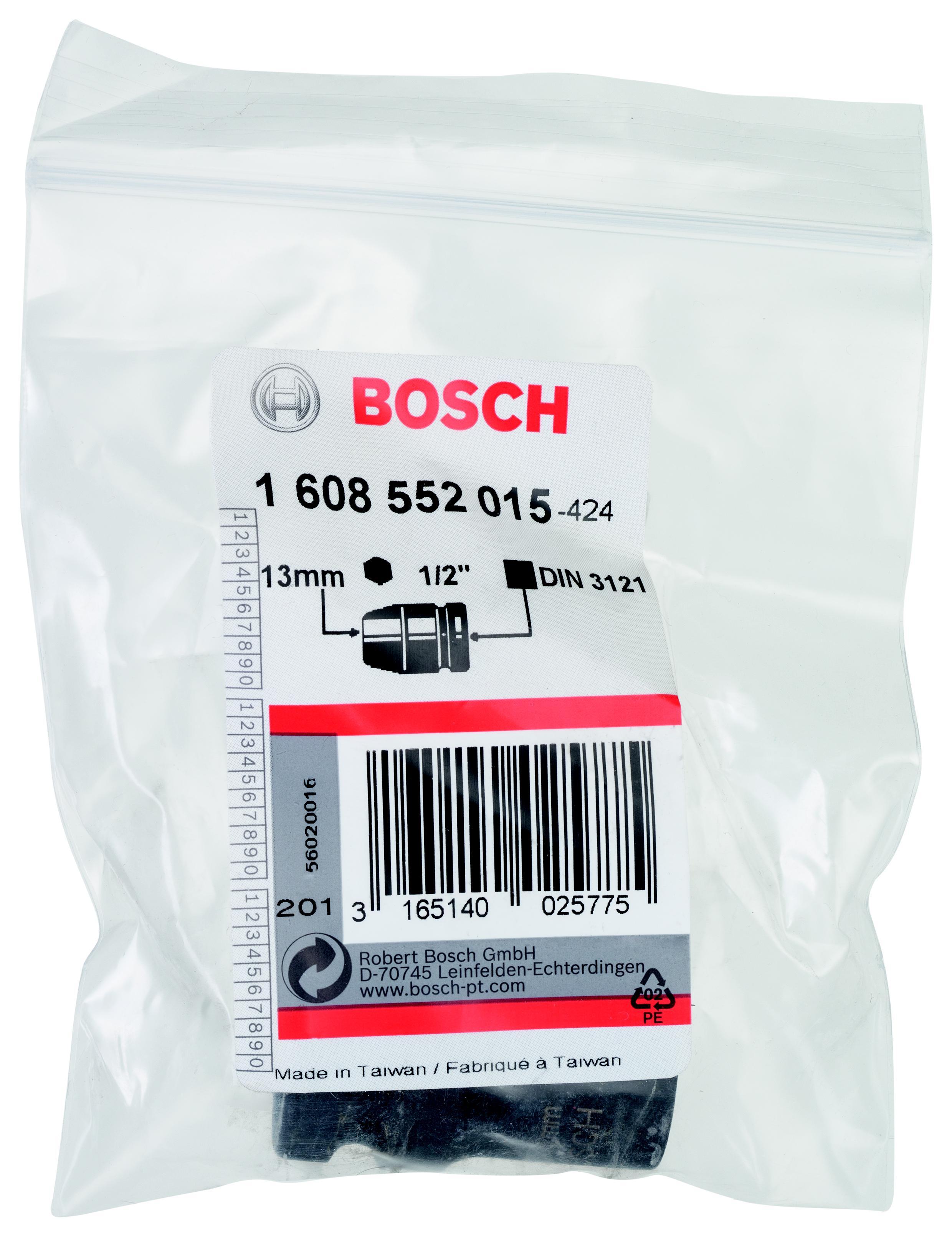Торцевая головка Bosch 13 мм, 1/2'', 1 шт. (1.608.552.015)