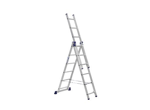 Универсальная лестница трехсекционная АЛЮМЕТ H3 5306