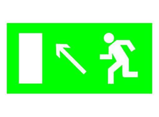 Знак TDM Направление к эвакуационному выходу налево вверх 200х100мм (SQ0817-0055)