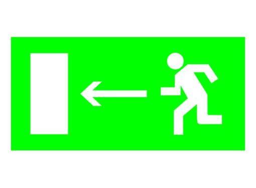 Знак TDM Направление к эвакуационному выходу налево 200х100мм (SQ0817-0050)