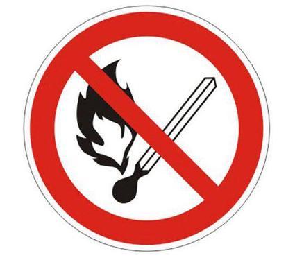 Знак TDM Запрещается пользоваться открытым огнём и курить Ф180мм (SQ0817-0026)