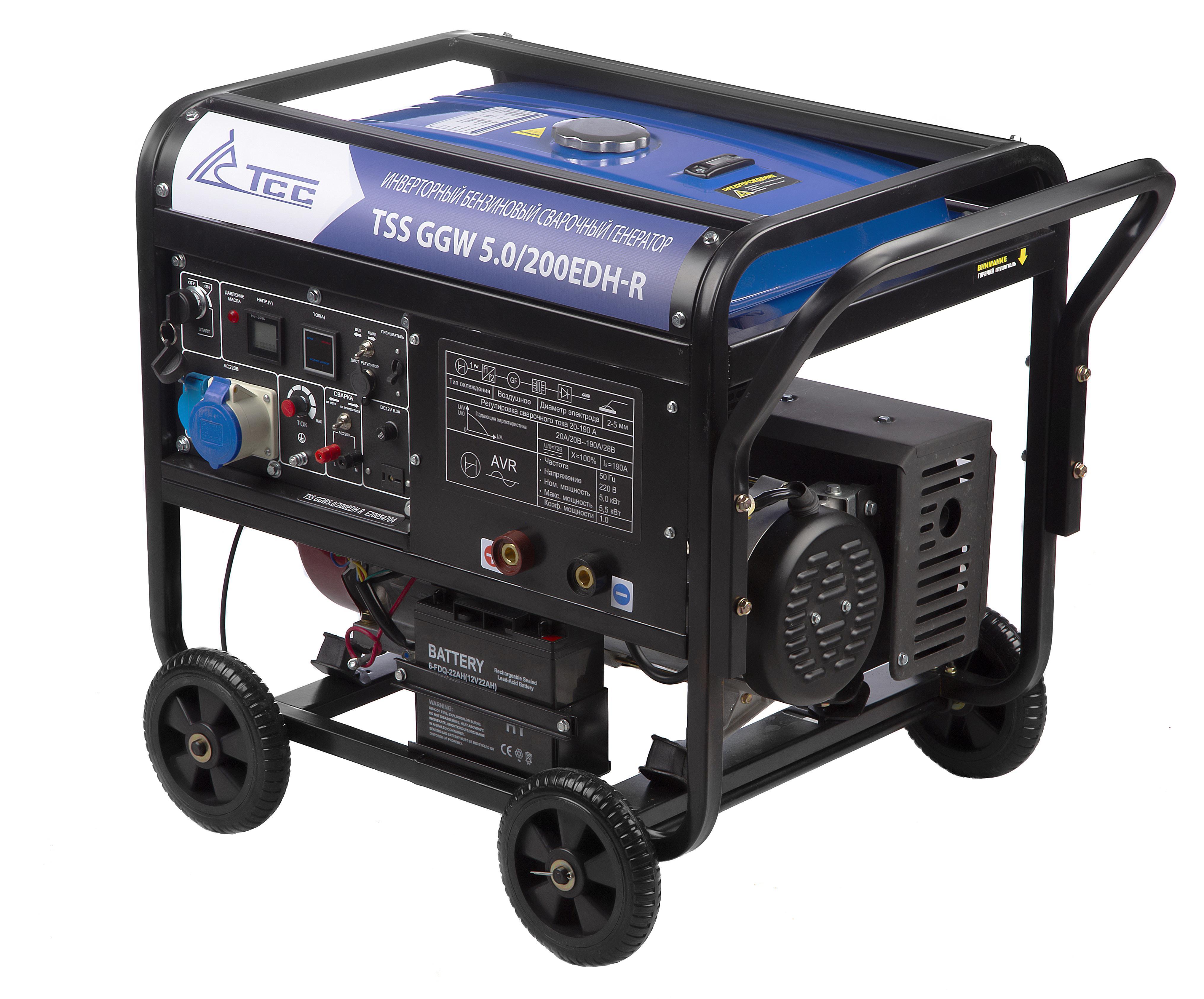 Сварочный бензиновый генератор ТСС Ggw 5.0/200edh-r