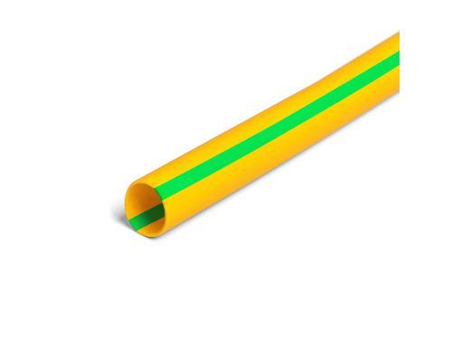 Термоусадочная трубка КВТ ТНТнг Ф8/4мм 100см желто-зеленый (72434)