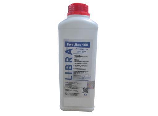 Антисептик ХИМФАСЕПТ Libra Био Дез 400 1л 65% спирта убивает 99,9% вирусов