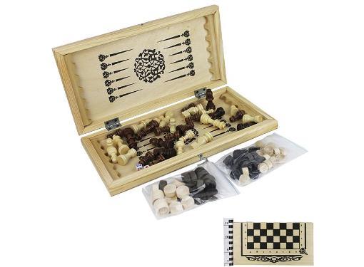КОЛОРИТ Шахматы, шашки, нарды 3 в 1