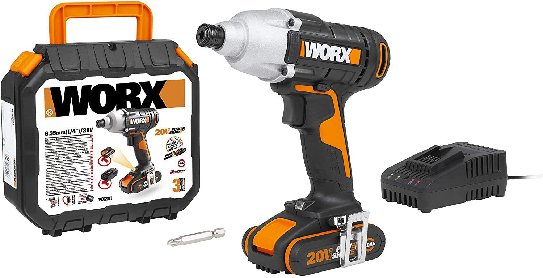 Гайковерт аккумуляторный Worx Wx291 гайковерт аккумуляторный ударный dexter 20 в без аккумулятора