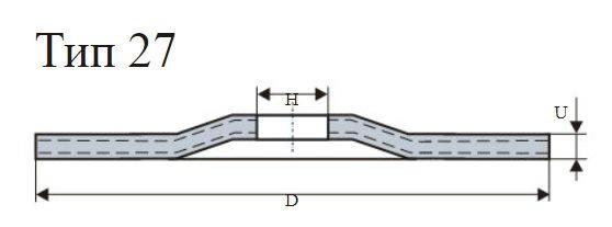 Круг зачистной ЛУГА-АБРАЗИВ 180х6х22мм 54С упак.20шт