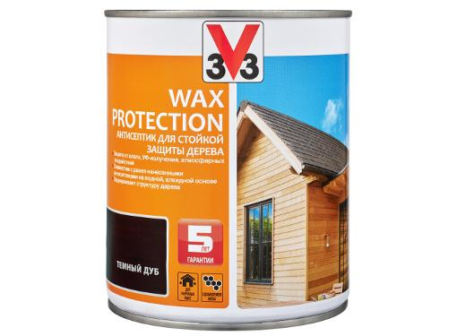 Антисептик для дерева V33 Wax Protection дуб темный 0.9 л (117370)