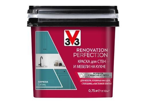 Краска V33 RENOVATION PERFECTION Бирюза 0,75 л
