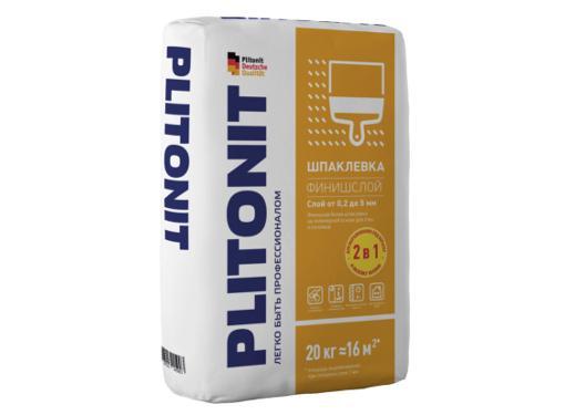 Шпаклевка финишная PLITONIT ФинишСлой белая 20 кг на полимерной основе