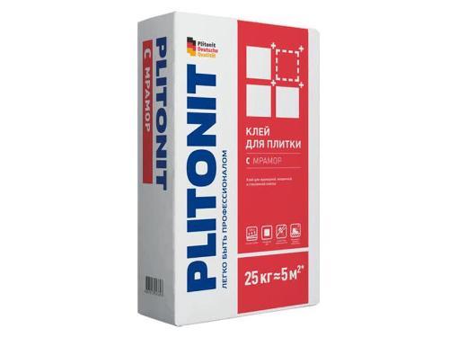 Клей для плитки высокопрочный PLITONIT С мрамор 25 кг