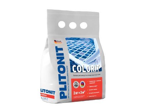 Затирка для плитки PLITONIT Colorit Коричневая 2 кг Н006092 (1,5-6 мм)