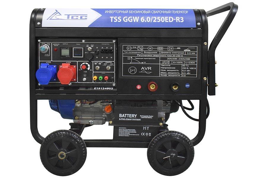 Сварочный бензиновый генератор ТСС Ggw6.0/250ed-r3 (26495)