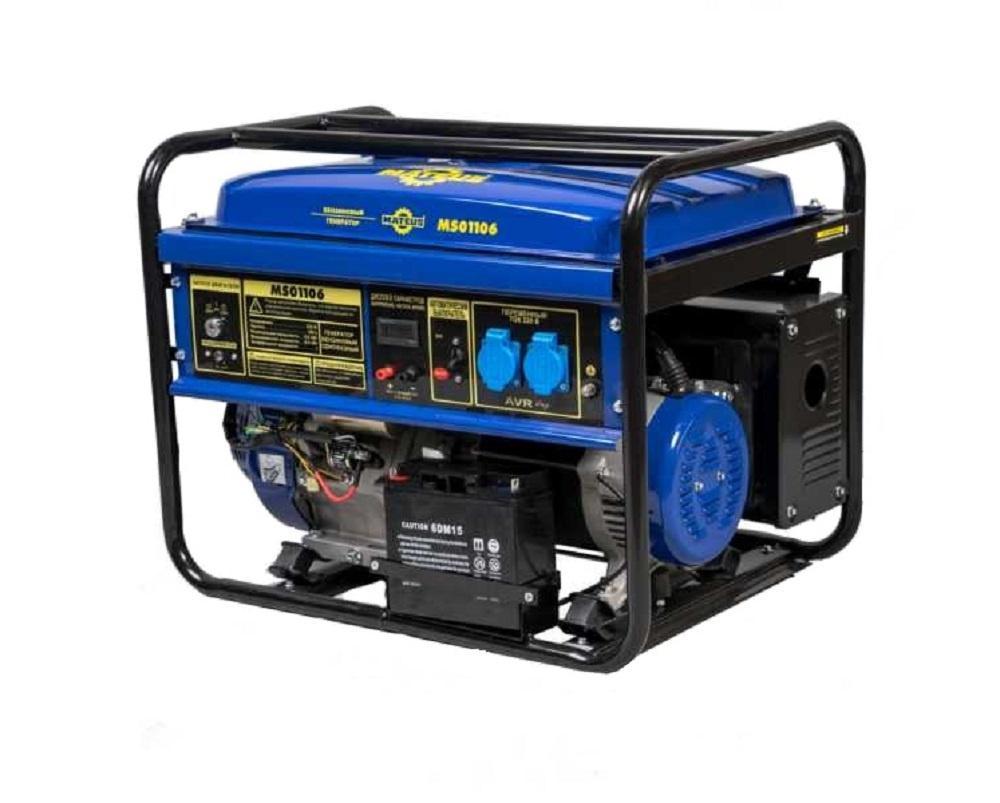 Бензиновый генератор Mateus Ms01106 (6.5gfe)