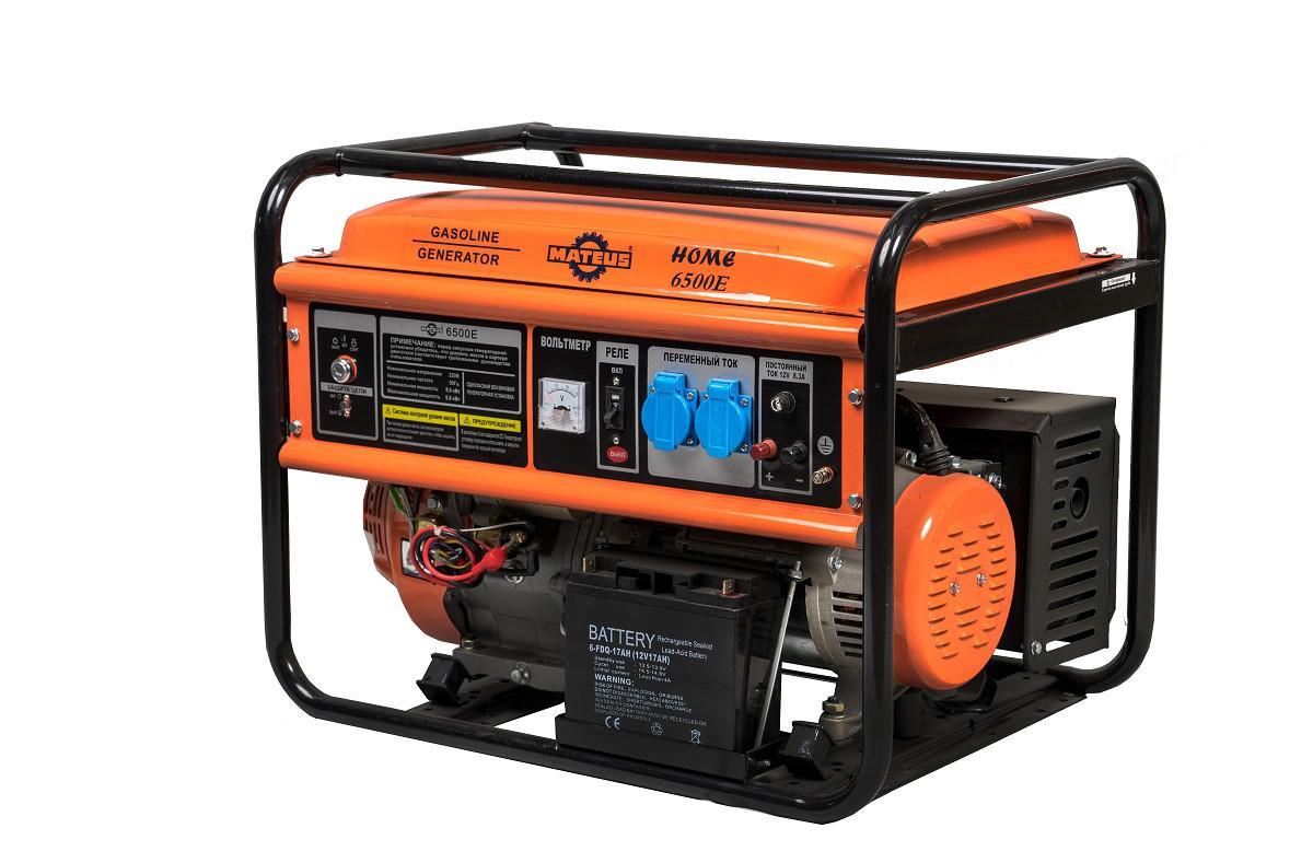 Бензиновый генератор Mateus Ms01104h (6500e home)