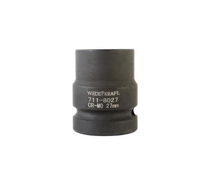 Головка ударная WIEDERKRAFT размер 27мм, H 43мм, S 1'' (WDK-711-8027)
