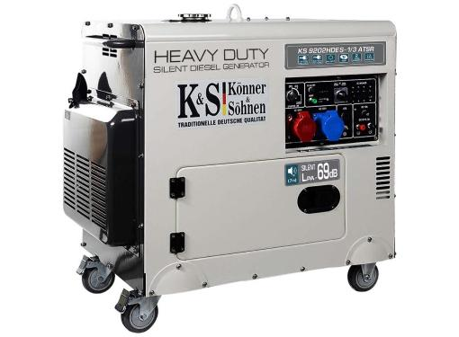 Дизельный генератор KONNER&SOHNEN KS 9202HDES - 1/3 ATSR