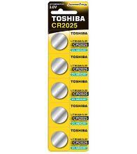 TOSHIBA 00152702 Тип: CR2025 (Кол-во в уп. 5шт.)