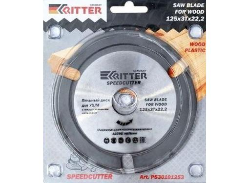 Диск пильный RITTER Ritter Multi 125х22,2х1,0 с твердосплавным напылением для УШМ