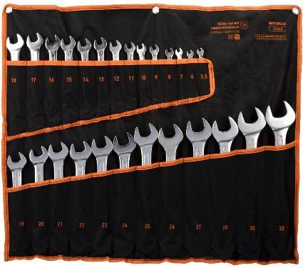 Набор ключей комбинированных АВТОДЕЛО 5,5-32мм, 26 шт (36260)