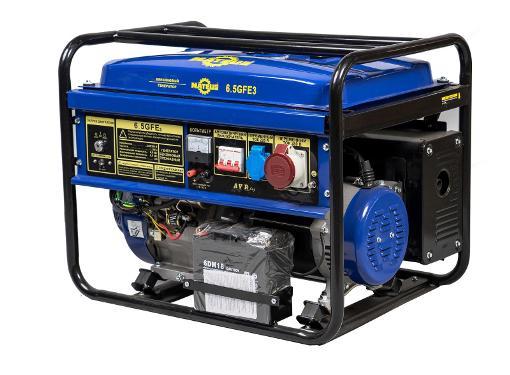 Бензиновый генератор MATEUS MS01108 (6.5GFE3)