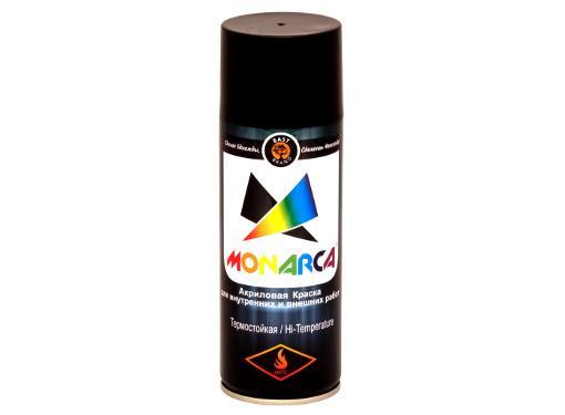 Краска аэрозольная MONARCA 21200  термостойкая Черный 0,52 л