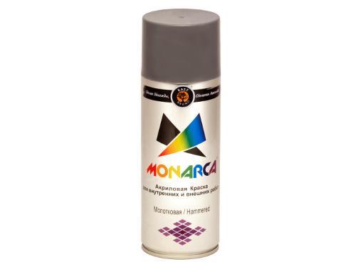 Краска аэрозольная MONARCA 60000 молотковая Серебряный 0,52 л
