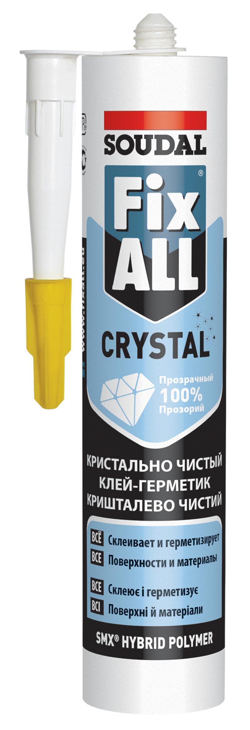 Клей герметик Soudal 119130 fix all crystal