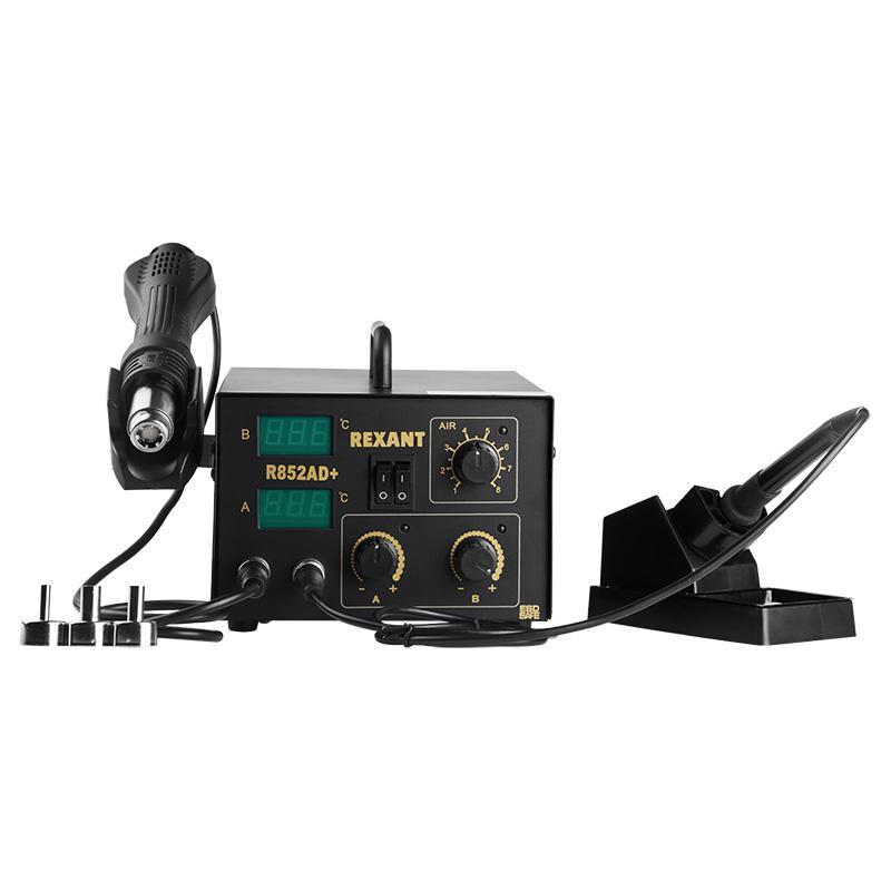 Паяльная станция Rexant R852ad (12-0724) 2в1: паяльник+термофен