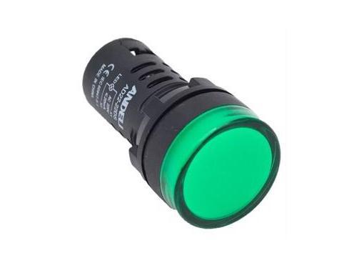 Лампа сигнальная ANDELI AD16-22DS d22мм зеленый