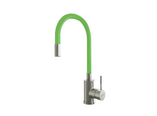 Смеситель с гибким изливом MIXLINE MLSS-0325 зеленый