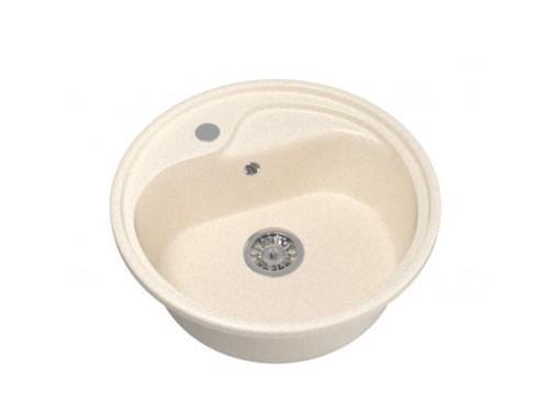 Круглая мойка для кухни MIXLINE ML-GM10 бежевая (525066)