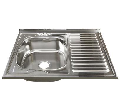 Мойка кухонная MIXLINE 528180 с сифоном